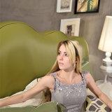 Кровать кожи зеленого цвета самомоднейшей конструкции для мебели G7006 гостиной