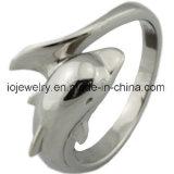 De dierlijke Ring van de Dolfijn van de Spiegel van de Juwelen van het Thema Oppoetsende