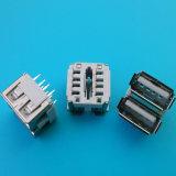 Heißer Verkaufs-vertikaler weiblicher Doppel-Port USB-Verbinder