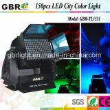 A iluminação LED de exterior 150X3w RGB LED de 3 em 1 cores da Cidade Luz LED de alta potência de iluminação de lava na parede