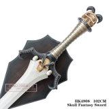Espadas do filme da espada da fantasia do crânio com chapa 102cm HK4908