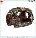 El Acuario de resina de ver la cueva de roca Ornamental Fish Tank DECORACIÓN Decoración