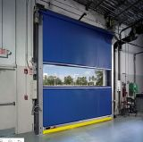 Puertas de alta velocidad del PVC con la ventana de visión