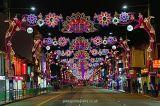 Il LED attraverso il motivo della via illumina l'illuminazione per l'illuminazione stradale di Diwali