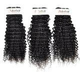 個人的な使用(等級9A)のためのインドのねじれた巻き毛の加工されていないバージンの毛