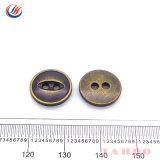 Los dos agujeros del botón de metal de aleación de zinc, níquel, el botón botón libre