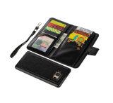 Caja negra del teléfono móvil del cuero del color