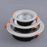 Comercio al por mayor ronda empotrables de techo LED de luz hacia abajo
