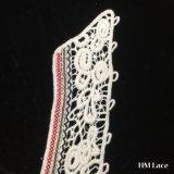 beau collier de lacet de coton de 54*30cm avec la forme d'aile, garniture de lacet de collier d'aile de cornière de maille, lacet personnalisé Hm2034 de collier