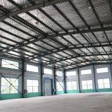 A estrutura do prédio de aço como dois pisos acabados