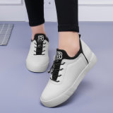 PU plateado zapatos de deporte atletismo femenino gimnasio zapatos de tacón plano