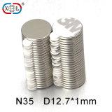 Super starke Permanente kundenspezifisches rückseitiges anhaftendes Magnet-Nickel beschichtet