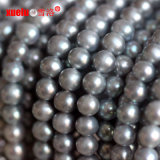 7-8mmの灰色の円形の自然な淡水の真珠の物質的な卸し売り製造者、Zhujiの真珠