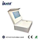 Preço de fábrica caixa video de /Business da caixa video do LCD de 4.3 polegadas/caixa video do presente com alta qualidade