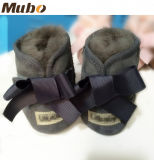 Handmade 사랑스러운 양가죽 Soft-Soled Bow-Knot 아기 신발