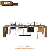 Стальные выдвигаемая обеденный стол белого цвета