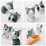 Karikatur-Käse-Katze-Serien-Plastikabbildung Spielwaren
