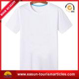 Camisa branca do algodão T da camisa barata da lona T do t-shirt da rocha