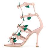 As mulheres de luxo Sapatos de salto alto fino de Casamento Fancy Lady Calçados Sândalo