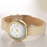 Dame-einfache beiläufige lederne Brücke-Quarz-Armbanduhr 71356 der Frauen