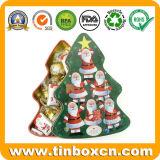 Estaño de los chocolates del árbol de navidad de Heidel para el embalaje del rectángulo de regalo del metal