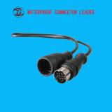 高品質白黒無色の2つのPin LEDの防水コネクター