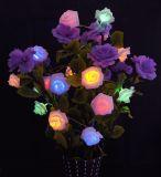 3*AA luzes feericamente de Rosa da luz da bateria do diodo emissor de luz Rosa