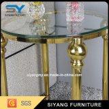 明確な緩和されたガラスの側面表が付いている金の鉄骨フレーム