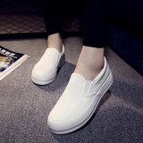 Выскальзование равнины Cavas женщин продукта Китая на пустой новой картине ботинок холстины