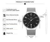メタルバンドの腕時計の標準的な水晶人の腕時計のステンレス鋼の腕時計72891