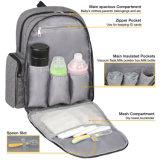 Sac imperméable à l'eau de sac à dos de couche-culotte d'organisateur de bébé avec des courroies de poussette changeant la garniture