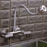 Double robinet sans plomb d'acier inoxydable du traitement 304