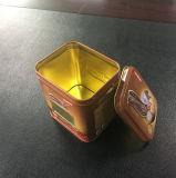 Poder de estaño de empaquetado del café de Rectanglar con la ventana del PVC