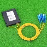 Gpon 원거리 통신에 의하여 착색되는 섬유 1X4 PLC 쪼개는 도구 시스템