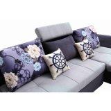 Sofa sectionnel en forme de L Cum le bâti avec la mémoire