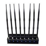 Desktop 8 Bandas GSM, 3G, 4G LTE Jammer de 2,4 Ghz y 5GHz bloqueador WiFi