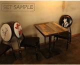 Cadeira ajustada da tabela da mobília do lazer do ferro do restaurante da sala de visitas