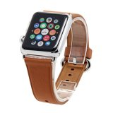 Wholesale Leather Wrist Strap Genuine Brown Smart Watch Replacement Strap