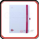 Logotipo de epóxi capa dura de fecho elásticas cinge notebook de tamanho A4