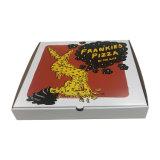 워터마크 인쇄 로고를 가진 주문을 받아서 만들어진 크기 브라운 피자 상자