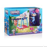棒運動場Liv赤ん坊のFingerlingsのPlayset青い猿のおもちゃ