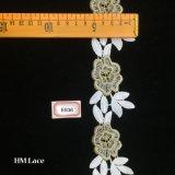 beau Foral lacet de garniture de 5cm, lacet de frange de fleur pour les accessoires Hme836 de robe de mariage