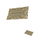 Подгонянный самый дешевый изготовленный на заказ серебряный круглый Nameplate алюминия металла