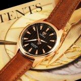 Z369 guarda gli uomini, orologi della parte posteriore dell'acciaio inossidabile, vigilanza di marca