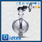 Didtek Edelstahl-Oblate-Drosselventil mit Chainwheels