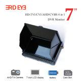 Sur la vente d'usine 7000mAh Li-Battery alimenté LCD 7 pouces Ahd Voiture DVR Moniteur de sécurité de rétroviseur