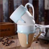 주문을 받아서 만들어진 디자인 찬 색깔 변화 찻잔 세라믹 마술 컵 (KCC-100)