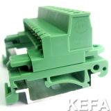 Approved UL VDE DIN Rail Pluggable Terminal Block 5.08mm Pitch