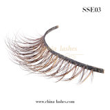 Handmade Fashion maquillage faux cils de fourrure de sable de coups de fouet