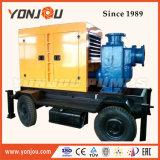 Le diesel refroidi par eau à amorçage automatique de l'Irrigation sur roues de pompe à eau